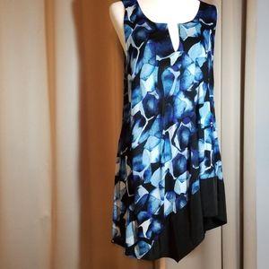 Simply Vera Vera Wang Asymmetrical Blue Tunic XL